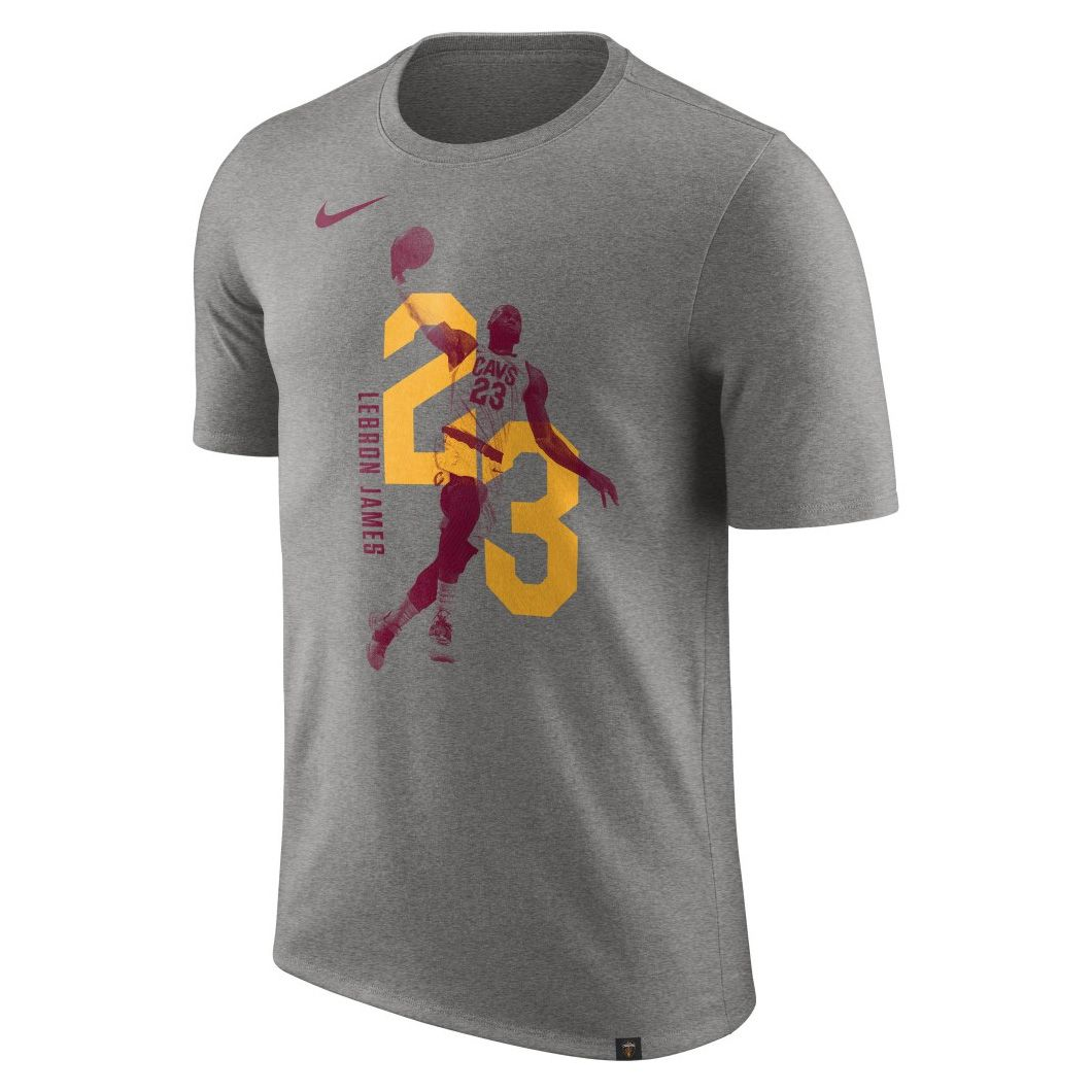 save off 5d080 5d366 Type Shirts Nike Cleveland Cavaliers LeBron James Dry Tee