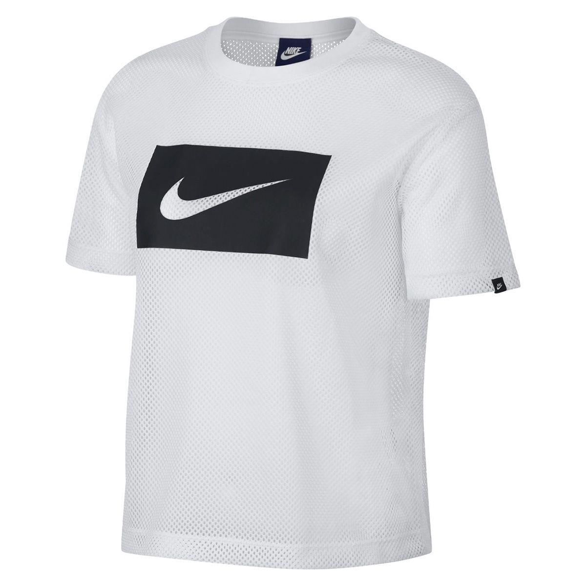 65172dc556db5 Type Shirts Nike Wmns NSW Top Swoosh Mesh Crop Top
