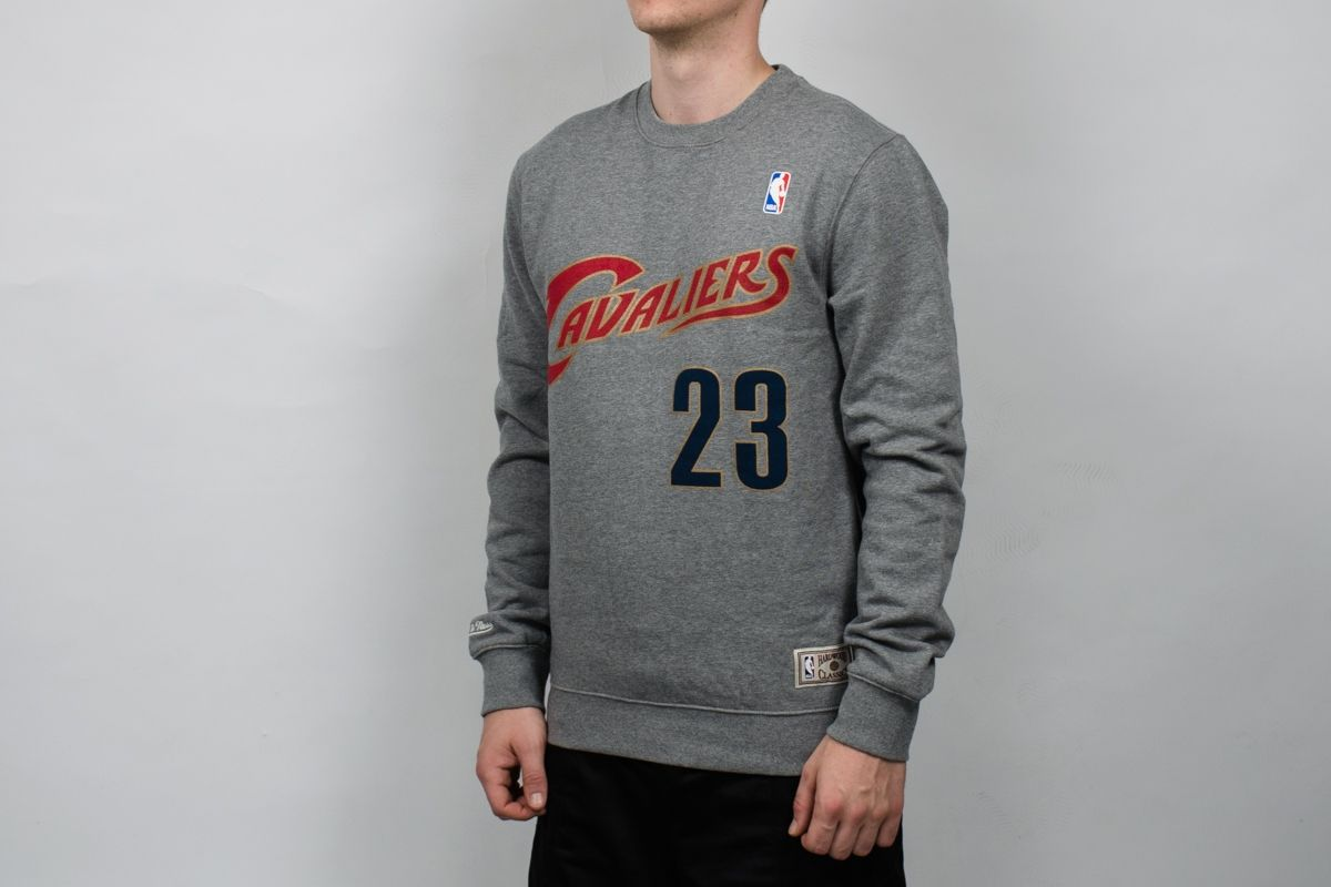 low priced 9c8c2 45e5d Type Hoodies Mitchell & Ness NBA Cleveland Cavaliers Name And Number  Crewneck Sweatshirt
