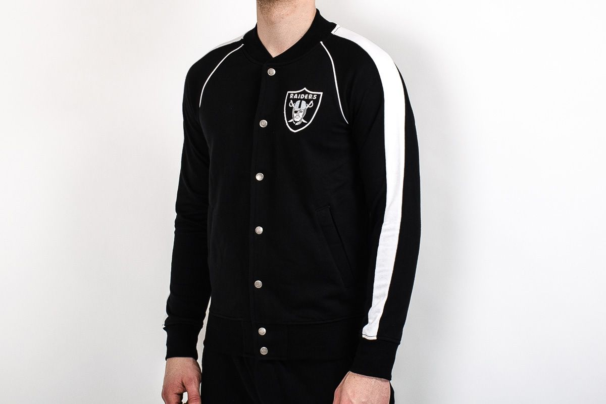 check out 7b086 7cba1 Type Hoodies Majestic NFL Oakland Raiders Melter Fleece Letterman Jacket