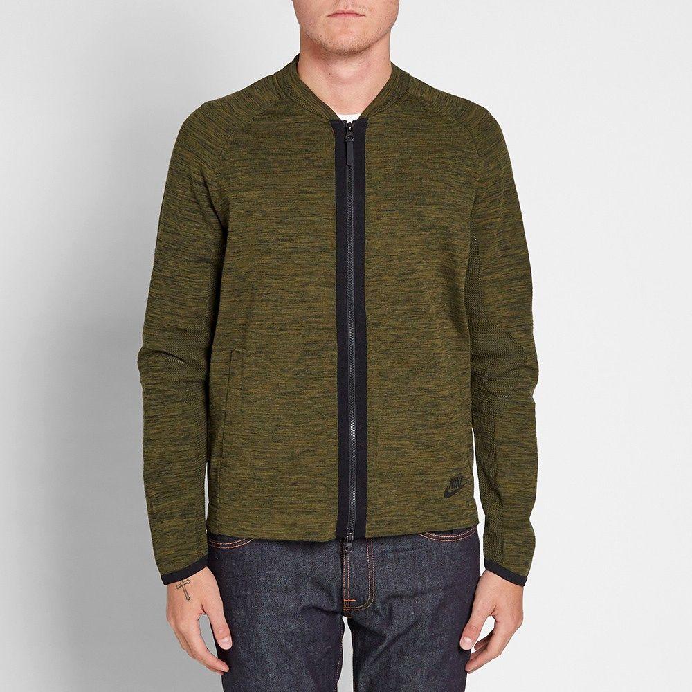 Type Hoodies Nike Tech Knit Bomber Jacket 088e71966