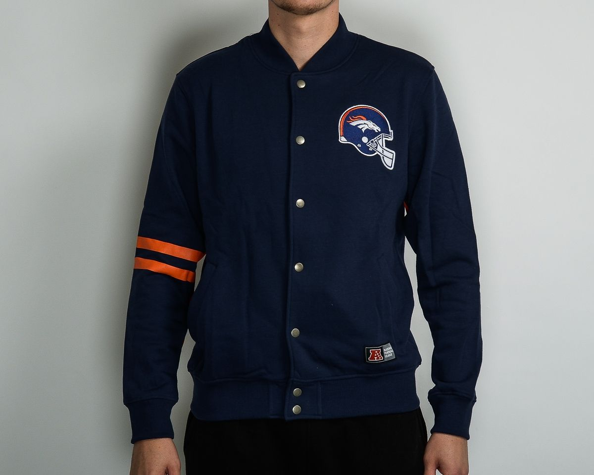 timeless design 93548 b0801 Type Hoodies Majestic NFL Denver Broncos Emodin Fleece Letterman Jacket