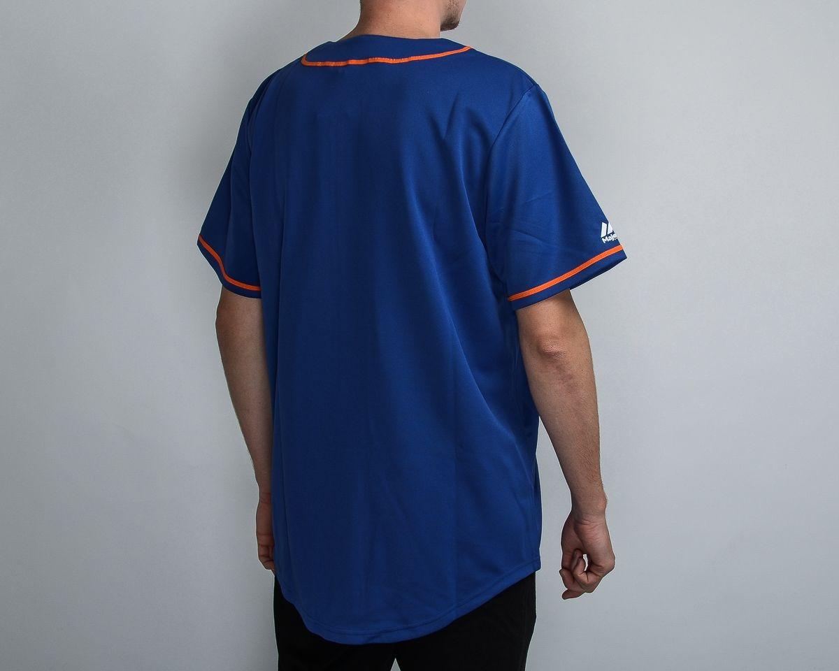 innovative design 3dfb8 2fae4 Type Shirts Majestic MLB New York Mets Replica Jersey