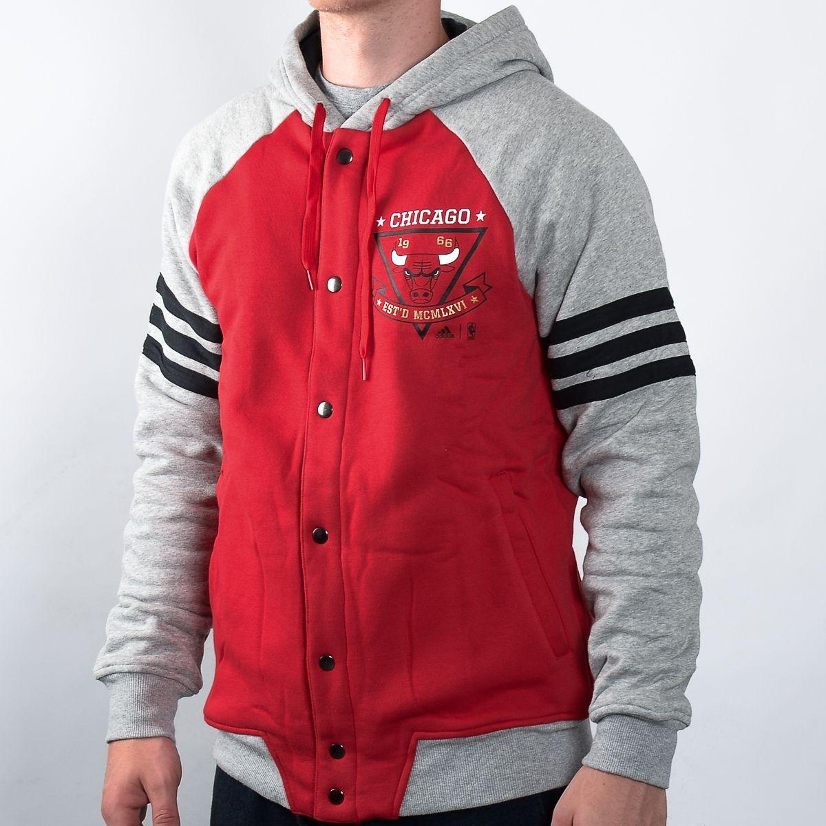 alquitrán experimental marxismo  Type Hoodies adidas NBA Chicago Bulls Washed Jacket