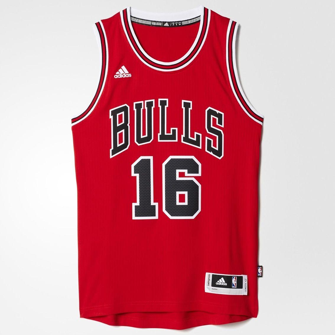 the best attitude 133b9 7c27d Type Shirts adidas NBA Chicago Bulls Pau Gasol Swingman Jersey