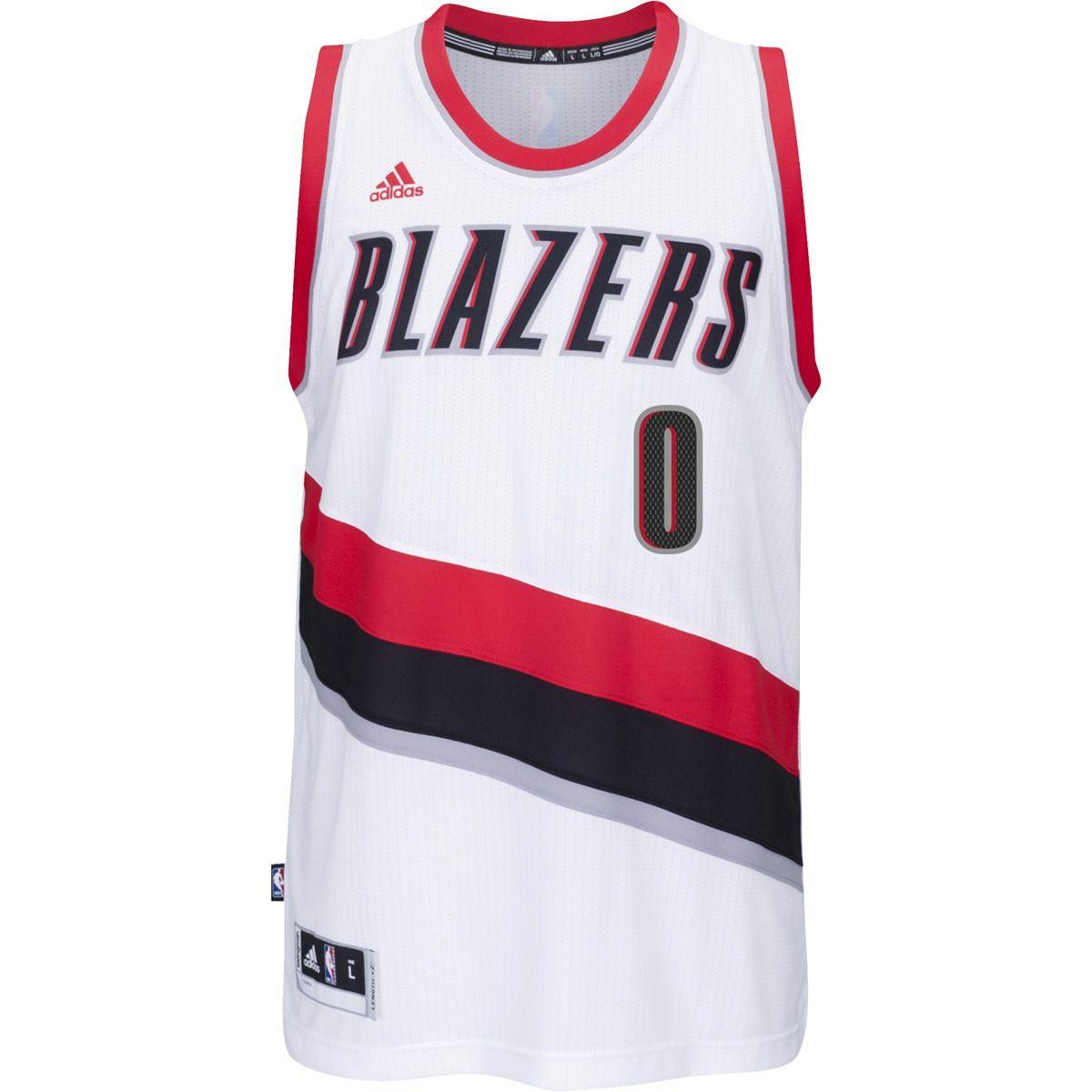 hot sale online cfc53 95b4a Type Shirts adidas NBA Portland Trail Blazer Damian Lillard Swingman Jersey