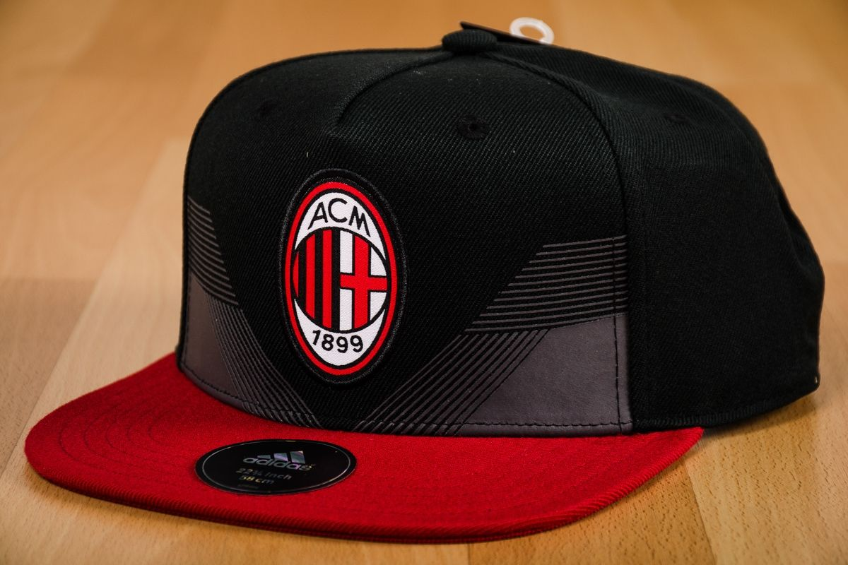 Type Caps adidas AC Milan Flat Snapback Cap 5e3cb0b129