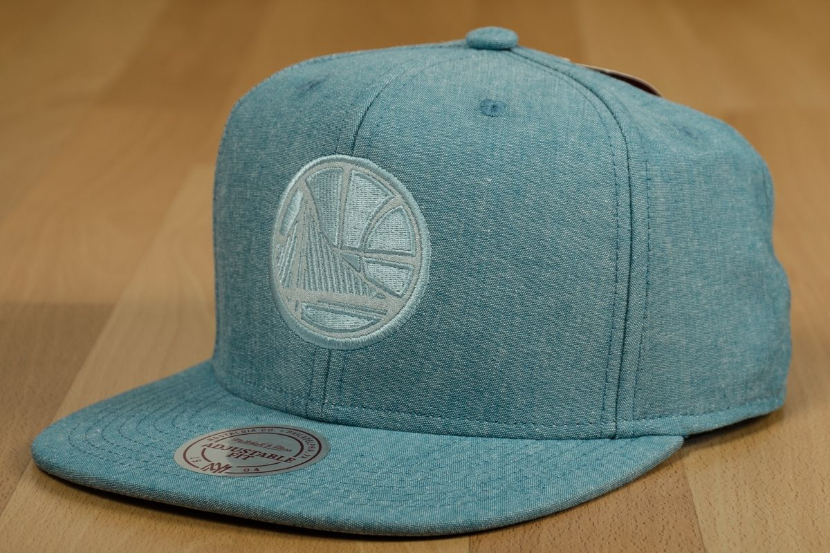 85fc0654 Type Caps Mitchell & Ness NBA Golden State Warriors Italian Washed  Snapback Cap