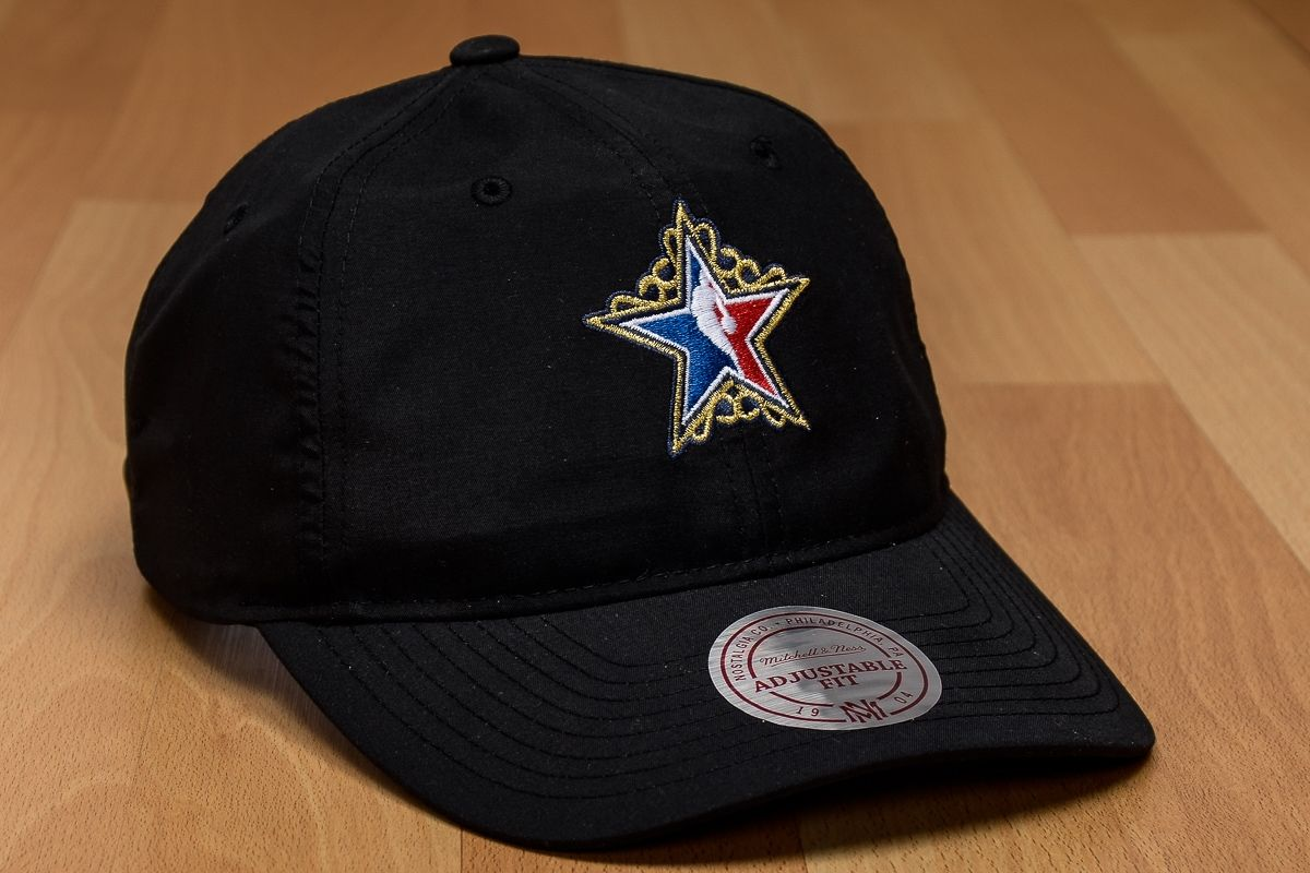 sports shoes 86add df88d Type Caps Mitchell  amp  Ness NBA All-Star Peached Oxford Dad Cap