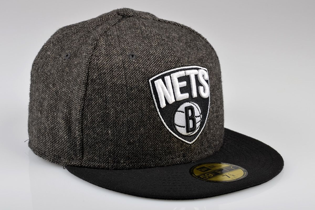 Type Caps New Era Brooklyn Nets Team Tweed Fitted Cap 4905391094d
