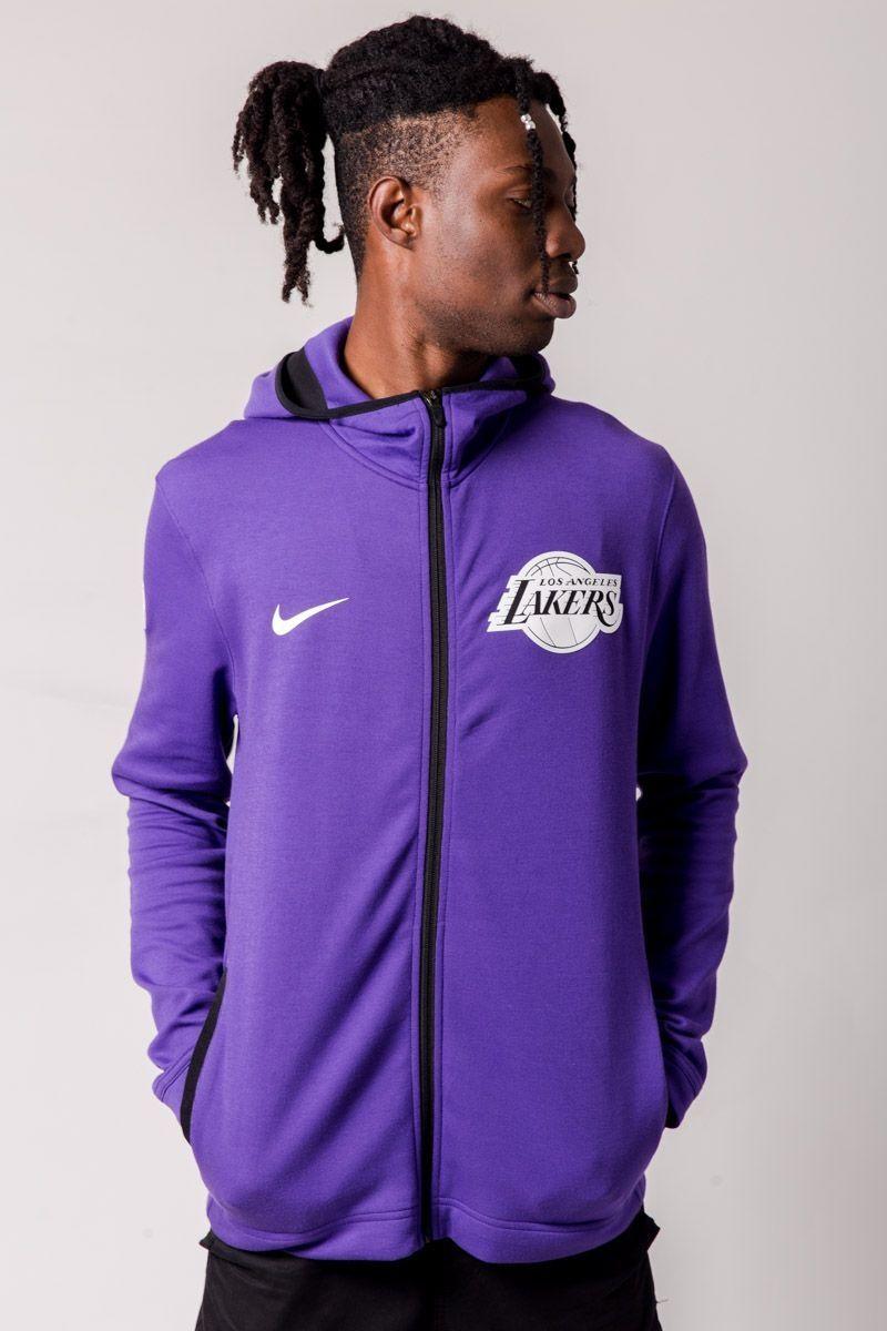 big sale 5cc0a 37cea Type Hoodies Nike NBA Los Angeles Lakers Dry Showtime Hoodie