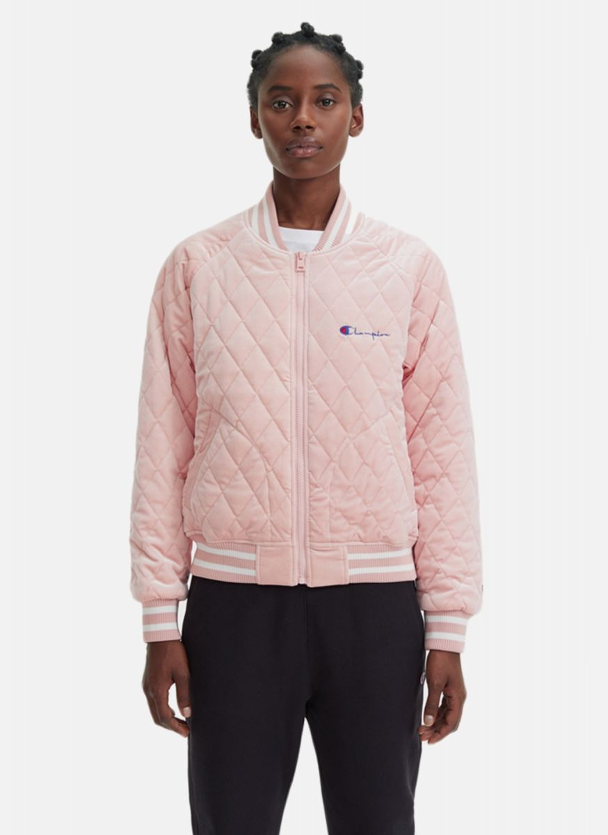 1496842ed Type Jackets Champion Wmns Velour Quilted Bomber Jacket
