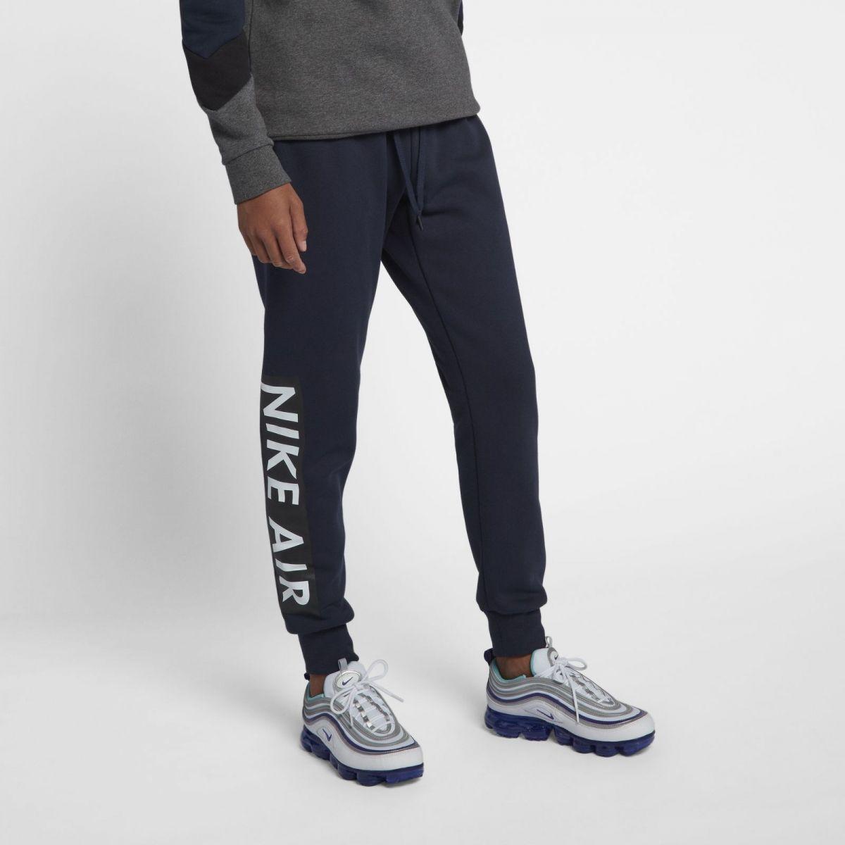 nike air fleece pants grey