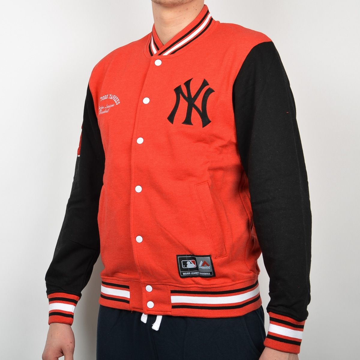 online retailer 067da 53b45 Type Hoodies Majestic MLB New York Yankees Senell Fleece Letterman jacket