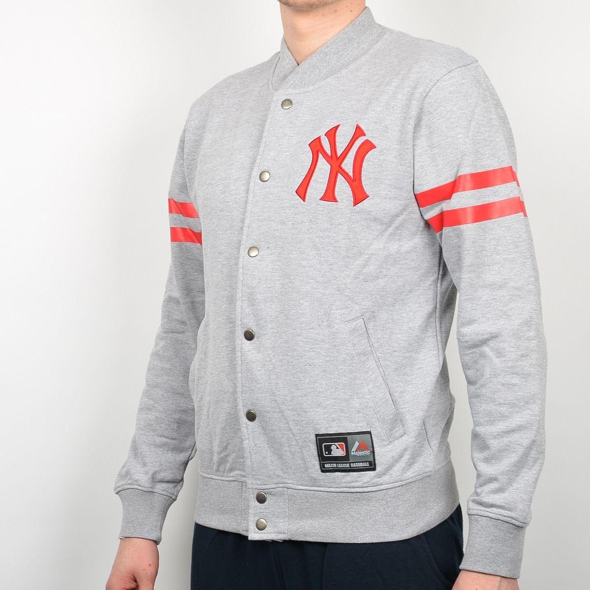 brand new 9f9d5 97ea6 Type Hoodies Majestic MLB New York Yankees Roper Fleece Letterman Jacket