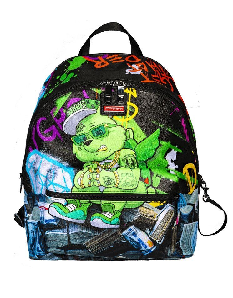 a686e5d2599 Type Backpacks Sprayground Money Bear Stacks Backpack