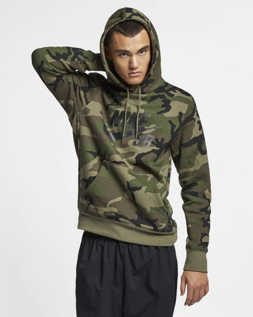 entire collection half price official supplier Type Hoodies Nike SB Icon Camo Skate Hoodie