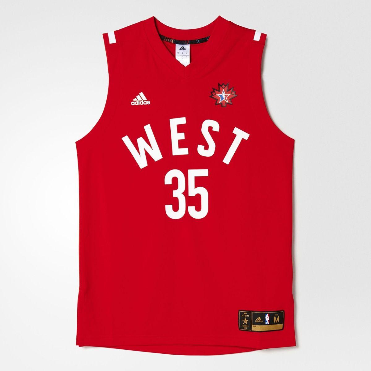 d6d30b939 Type Shirts adidas NBA All-Star 2016 Kevin Durant Replica Jersey