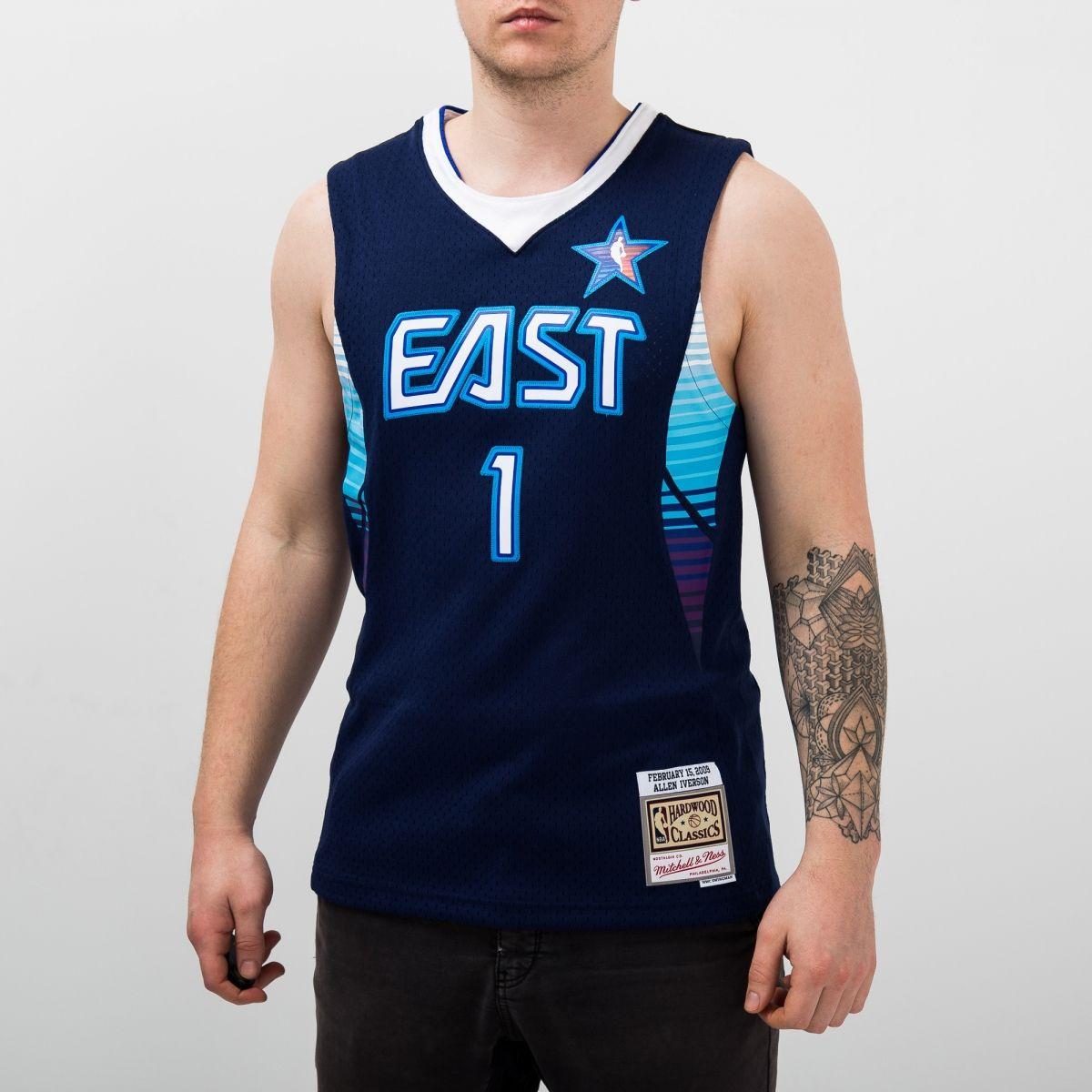hot sale online d963d 3e6da Type Shirts Mitchell & Ness NBA All-Star East 2009 Allen Iverson Swingman  Jersey