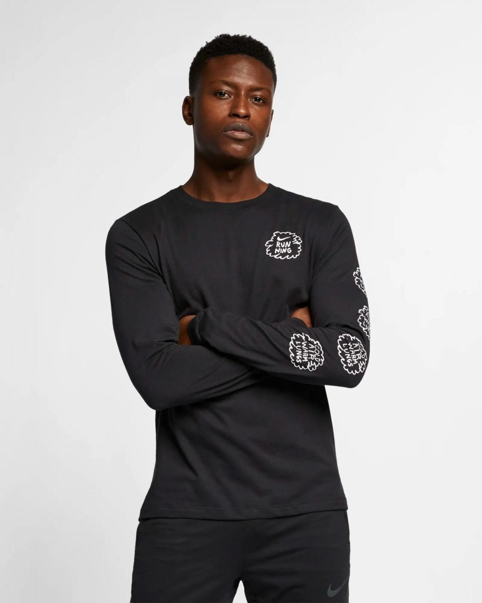 bf1ee2ad Type Shirts Nike Dri-FIT Nathan Bell Long-Sleeve Running T-Shirt
