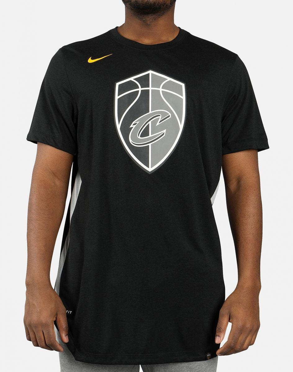 on sale 41f65 48dbc Type Shirts Nike NBA Cleveland Cavaliers City Edition Dri-Fit Tee
