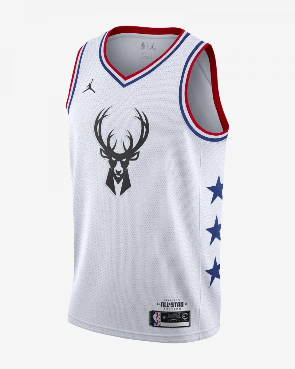 online store a5522 62a81 Type Shirts Jordan NBA Giannis Antetokounmpo All-Star Edition Swingman  Jersey
