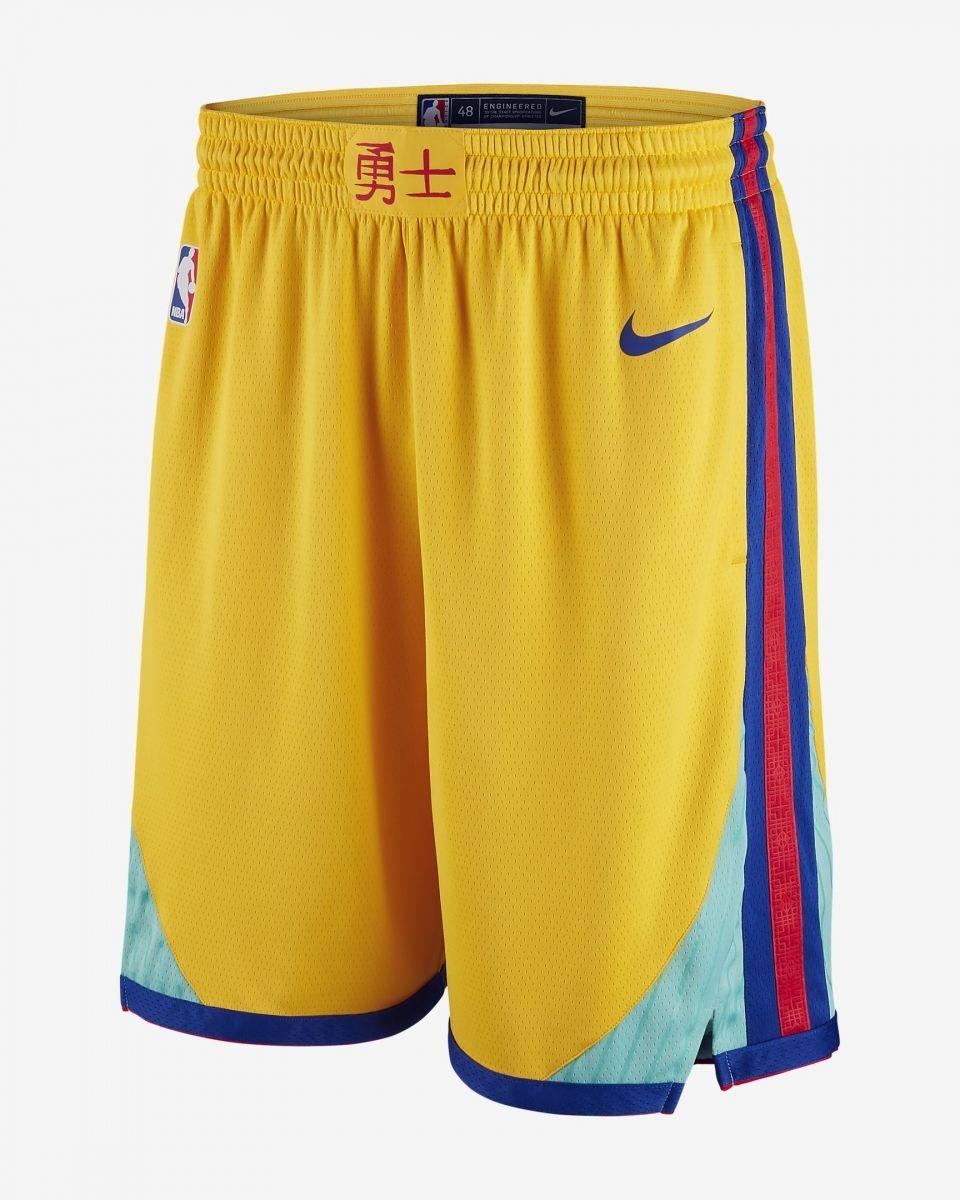 on sale a2f3e eec68 Type Shorts Nike NBA Golden State Warriors City Edition Swingman Shorts