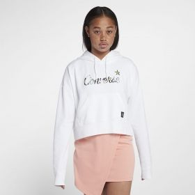 Суичър Converse Essentials Lightweight Cropped Palm Print Star Pullover Hoodie