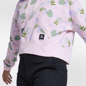 Суичър Converse Wmns Essentials Lightweight Cropped Palm Print Pullover Hoodie