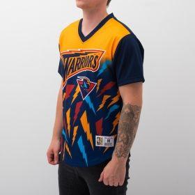 Type Shirts Mitchell & Ness NBA Golden State Warriors Game Winning Shot Mesh V-Neck T-Shirt