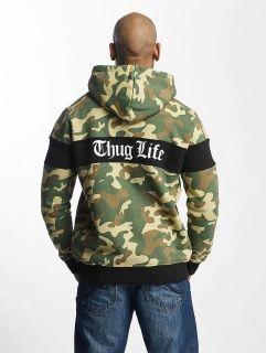 Мъжки суичър Thug Life / Zip Hoodie Bar in camouflage