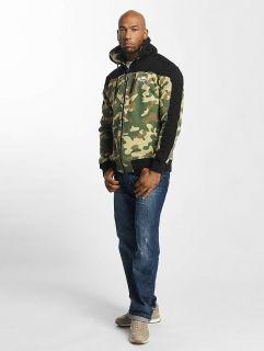 Мъжки суичър Thug Life / Zip Hoodie Crock in camouflage