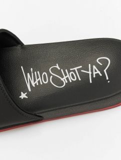 Who Shot Ya? / Sandals Logo in black