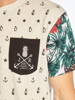 Мъжка тениска Just Rhyse / T-Shirt Paradise in white