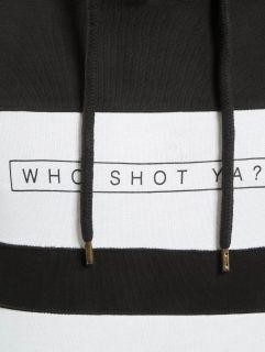 Мъжки суичър Who Shot Ya? / Hoodie Black And White in black