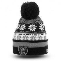 Зимна шапка New Era Pom Blizz 2 Oakland Raiders