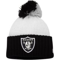 Зимна шапка New Era Mondo Pom Oakland Raiders