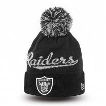 Зимна шапка New Era Bobble Script 2 Oakland Raiders