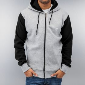Just Rhyse 2 Tone Time Zip Hoody Grey