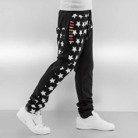 Just Rhyse Stars Sweat Pants Black