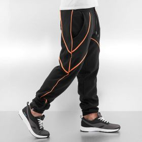 Just Rhyse Contrast Sweat Pants Black