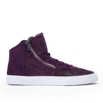 SUPRA WOMENS CUTTLER POTENT PURPLE/WHITE
