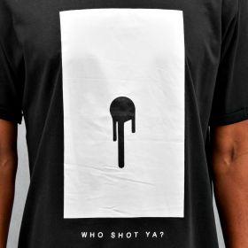 Who Shot Ya? Bullet Hole T-Shirt Black