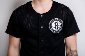 Тениска Mitchell & Ness NBA Brooklyn Nets Mesh Button Front Jersey