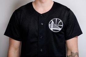 Тениска Mitchell & Ness NBA Golden State Warriors Mesh Button Front Jersey