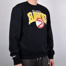 Суичър Mitchell & Ness Atlanta Hawks Team Arch Crew