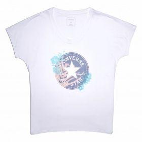 Тениска Converse Wmns Palm Print Chuck Patch Tee