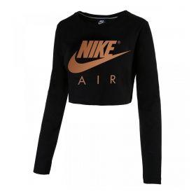 Type Shirts Nike Wmns Sportswear Cropped Long Sleeve Tee