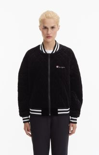 Type Jackets Champion Wmns Velour Quilted Bomber Jacket
