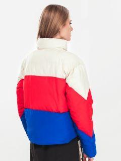 Type Jackets Champion Wmns Cropped Oversized Patchwork Jacket